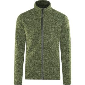 Meru Östersund Knitted Fleece Jacket Men Green Melange